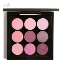 5 Styles 9 Colors Earth Tone Shimmer Matte Pigment Glitter Eyeshadow Palette Artist Shadow Palette Makeup Metallic Eye Shadow