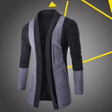 2017 Sale Fashion Men Cardigan Stylish Fashion Knitted Cardigan Men's Jacket Slim Long Sleeve Casual Sweater Coat For Male