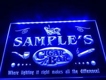 DZ056- Name Personalized Custom Cigar Pipe Bar Lounge  LED Neon Light Sign