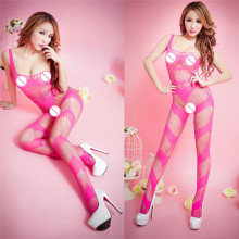 Buy Sexy Lingerie Women Black Striped Crotchless Teddy Fishnet Bodystockings Pantyhose Bodysuits Nightwear Babydoll Sex Underwear 20