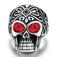 Hot sale 925 Tibet silver jewelry Red-eye skulls trendy send good friend for birthday gift factory direct sales YR238(China)