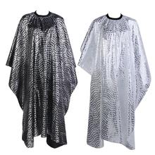 Pro Adult Salon Hair Cut Wrap Cloth Hairdressing Hairdresser Barbers Waterproof Cape Gown Feather Pattern(China)