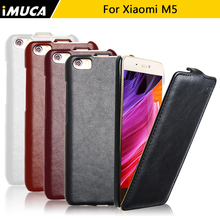 iMUCA Brand New Leather Case For Xiaomi m5 Mi5 Mi 5 Case Cover Mobile Phone Accessories Bag Shell For Xiaomi MI5 Flip Cases(China)