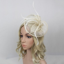Hot Sales 4 Colors Elegant Large Headband Aliceband Hat Fascinator Weddings Party Decor Supplies