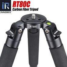 RT80C Professional carbon tripod for DSLR camera video camcorder Heavy duty 20kg max load bowl tripod birdwatching camera stand(China)