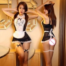 Buy Sexy Maid Uniform Costumes Role Play Women Sexy Lingerie Hot Porn Sexy Babydoll Underwear Teddy Erotic lingerie Sexy Costumes