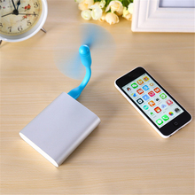Mini Cool Portable Power Bank USB Fan Bendable removable USB Gadgets For Xiaomi 18650 Powerbank Desk USBFAN USBGadget Tester