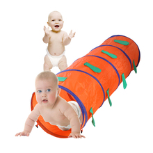 Lovely Cartoon Caterpillar Shape Kid Play Tunnel Tent Indoor/Outdoor Pop Up Outdoor Play Kids Playhut Toy Children's Lodge House
