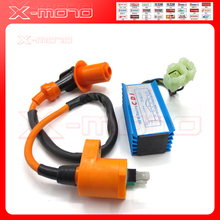 Hight Performance CDI GY6 Scooter Moped 50/125cc AC fired 6 pin Racing CDI Box Ignition Coil139QMB 152QMI Motorcycle Scooter ATV