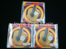 3 Sets of Alice A107BK-H Black Nylon H85 Coated Bronze Alloy Wound Classical Guitar Strings 1st-6th Strings