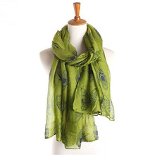 2017 Newly Design Owl Cartoon Scarves New Fashion Winter Spring Cotton Voile Scarf Woman Animal Print Soft Shawl Wraps 180*90CM