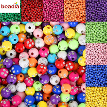Hot Selling 100 piece/lot 8mm Multi Colors Shiny Acrylic Round Beads For DIY Bracelets & Necklaces Jewelry Makings(China)