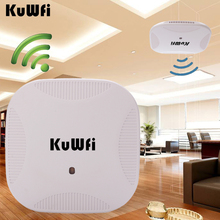 Kuwfi 600Mbps 2.4G/5.8G Dual Band 802.11AC Indoor Ceiling Mount Access Point Wifi Repeater Router 24V POE AP Control Management