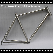 titanium bike frame for titanium road bicycle fashion style titanium alloy gr9 material titanium road bike frame and fork 700C(China)