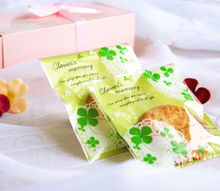 10*10+3cm #Lucky Clovers# Bakery Cookies Soaps Gifts Self-Adhesive Plastic Cello OPP Bags 100pcs