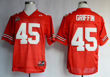 NIKE Ohio State Buckeyes Archie Griffin 45 College Ice Hockey Jerseys - Scarlet Size M,L,XL,2XL,3XL(China)