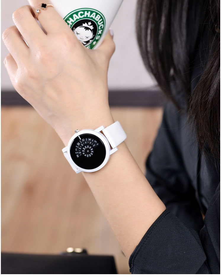 17 BGG creative design wristwatch camera concept brief simple special digital discs hands fashion quartz watches for men women 19