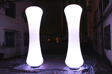 Free shipment 3m high Party/wedding inflatable light column/inflatable pillar for sale