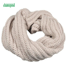 Ring Scarf CHAMSGEND Knitted Circle Wool Scarves Shawl Wrap Winter Warm Collar Fashion WillBeen Feb22 Drop Shipping