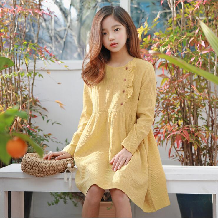 2019 Korean style girls  dress  cotton fashion spring girls  dresses 3-8t A860