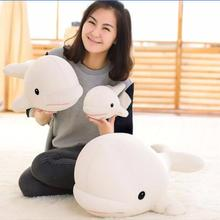 1pc 26cm/40cm Soft White Whale Foam particles Plush Toy Creative Dolls Birthday Gifts Cute Whales Kids Stuffed Bedroom Toys(China)