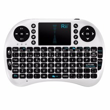 2.4G Russian Version Rii i8 Mini USB Wireless Keyboard with Touchpad Mouse Remote Control for Android Windows TV Box Cellphone(China)