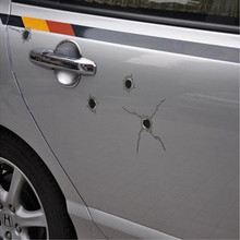 1pcs New Product 24/6/15 Bullet Hole Orifice Sticker Graphic Decal Shot Hole Car Auto Helmet Window