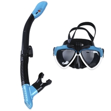2017 Professional Scuba Swimming Diving Water Sports Training Silicone Mask Glasses Dry Snorkel Set Swimming Pool Equipment(China)