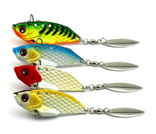 New Arrival 4pcs VIB Spinner Bait 6cm 20g Metal Fishing Lure Vibration Spinner Lure Sea Bass Fishing Bait(China)