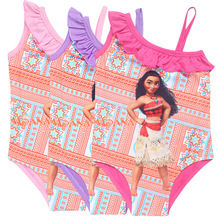 One piece Summer Baby Girls trolls dresses minnie swim wear kids bikini bathrobe children beach clothes cute design maxi dress