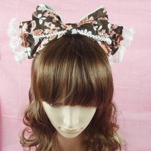 Royal vintage big sweet lolita bow hairpin hair accessory fancy hair bands cos hair band bow(China)