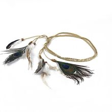 Limit buy Women Peacock Feather Bead Head Chain Handmade Woven Headwear Headband for Party