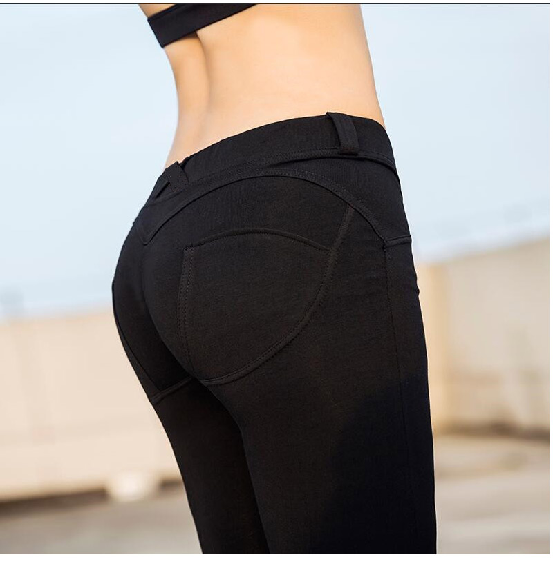 HEYJOE S-XL Women Low Waist Pants Push Up Sexy Hip Solid Trousers For Women Fashion Elastic Leggings Adventure Time for girl 15