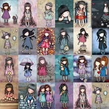 Miaodu Cute Girl Cartoon Full Diamond Embroidery 5D DIY Diamond Painting Cross Stitch Experience Toys Diamond Mosaic Bedroom(China)