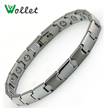 Wollet Jewelry Health Energy 20.5cm Pure Germanium Tungsten Bracelet Bangle For Women(China)