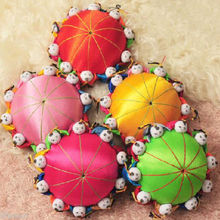 Wholesale 2pcs Classic Chinese Handmade Vintage Silk Pin Cushion With10 Cute Kids