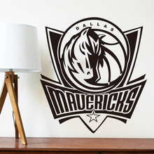 home decoration Dallas Mavericks NBA American professional basketball team logo wall stickers living room bedroom den