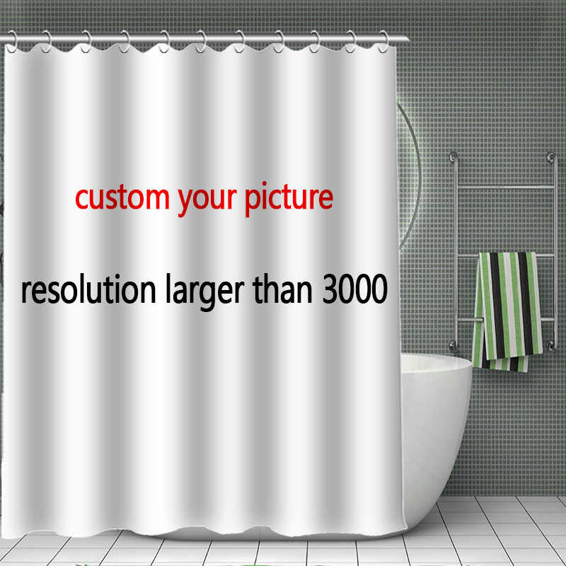 2018 Customize Your Own Pattern Shower Curtain High Quality Bath Screens Modern Polyester Fabric Customized
