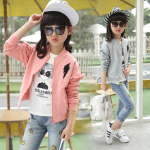 Girls Coat Spring Wear Kids Clothes Long Sleeve Coats Baseball Sports Jacket Children Teenager Outwear For Girls 8 10 12 14 Year