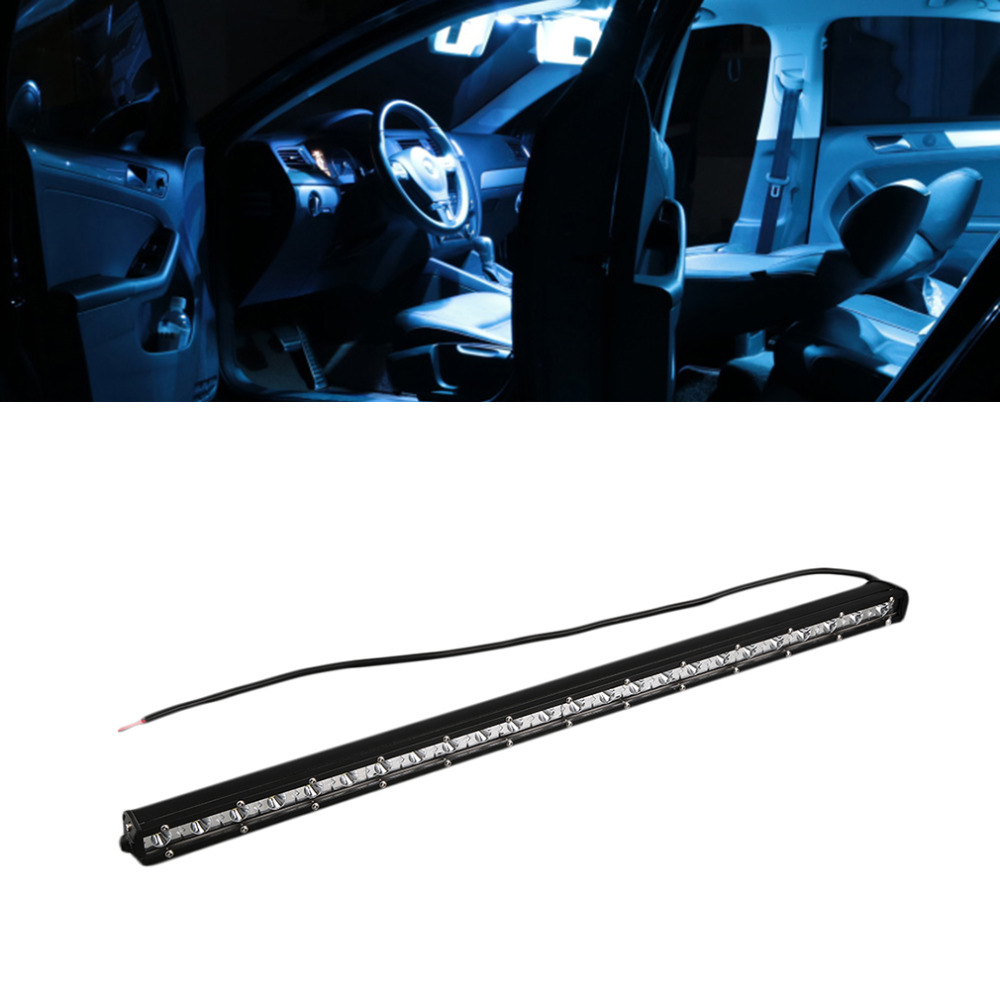 5D LED light bar 22inch 72W Single Row Straight LED work light offroad combo beam for truck tractor SUV ATV<br>