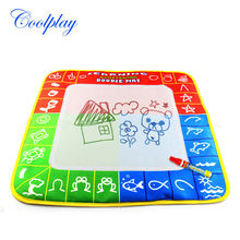 1 Pcs 49X48cm 3 color Magic Water Drawing Mat with 1 Magie pen for kids 1326