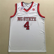 State Wolfpack Dennis Smith Jr. Movie jerseys CC Road white red Jersey free shipping(China)