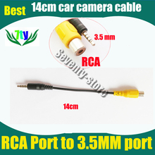 car parking camera cable for car camera video adapt (RCA connnector to 3.5mm earphone jack connector for camera video input )(China)
