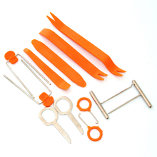 12pcs Car Door Clip Panel Radio Removal Tool For VW Volkswagen Audi Q3 Q5 SQ5 Q7 A1 A3 S3 A4 A4L A6L A7 S6 S7 A8 S4 RS4 A5 S5 RS(China)