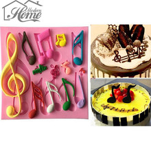 Beautiful And Classics Different Music Note Shape Silicone Fondant Cake Lace Mold Cake Mould, Bakeware Christmas DIY