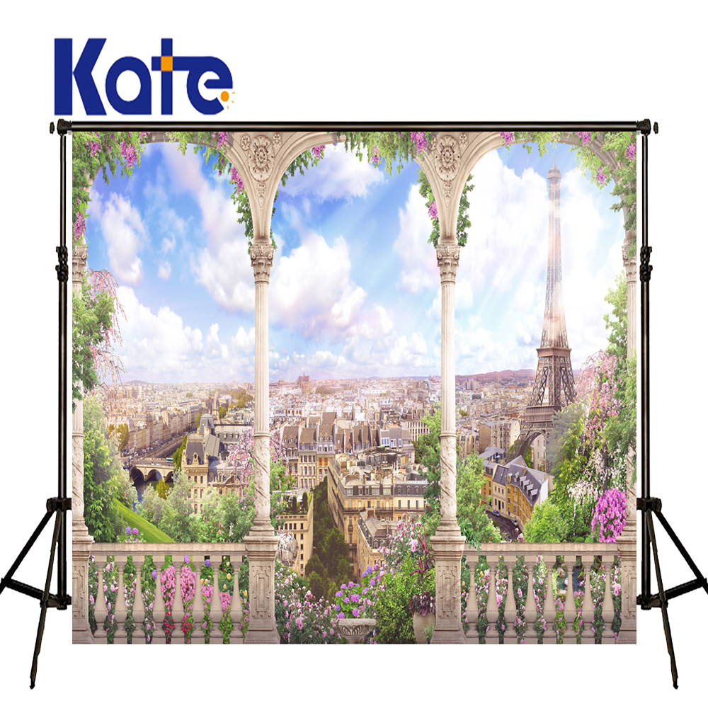 KATE Photo Background Photography Scenic Backdrops Torre Eiffel  Wedding Backdrops City Photo Backdrop For Photocall Wedding<br>