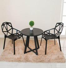 Modern minimalist casual coffee table round table small size table talk table desk reception desk(China)