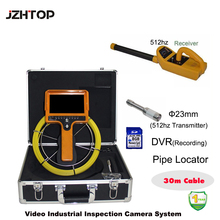 30 Meter Cable 23mm Pipe Locating Pipeline Inspection Camera System Pipe Locator Receiver W/Monitor(China)