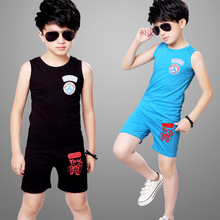 2017 summer new children boys vest sport suit sleeveless vest with short pants sets for children
