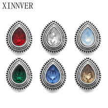 10pcs/lot Mixed Colors Heart 12mm Snap Button Jewelry Rhinestones Metal Snap Fit Snap Bracelet Necklace Jewelry Accessories(China)